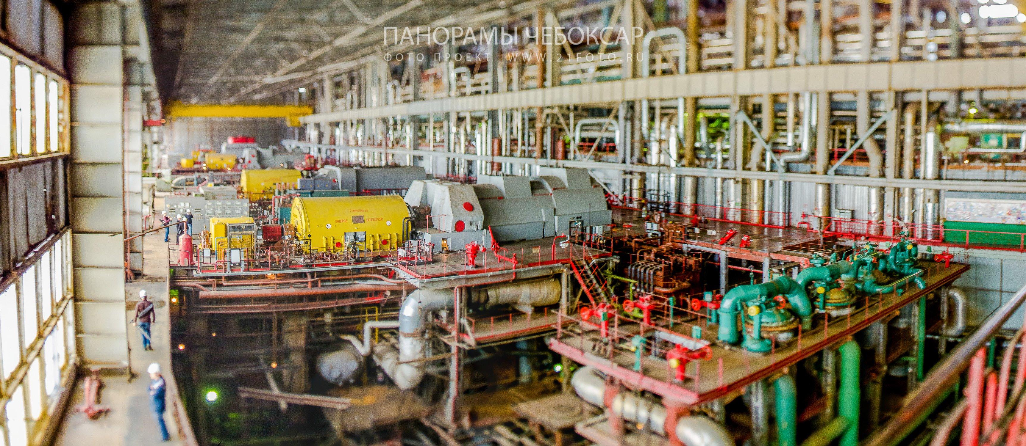 ТЭЦ-2 Чебоксары, зал турбогенераторов