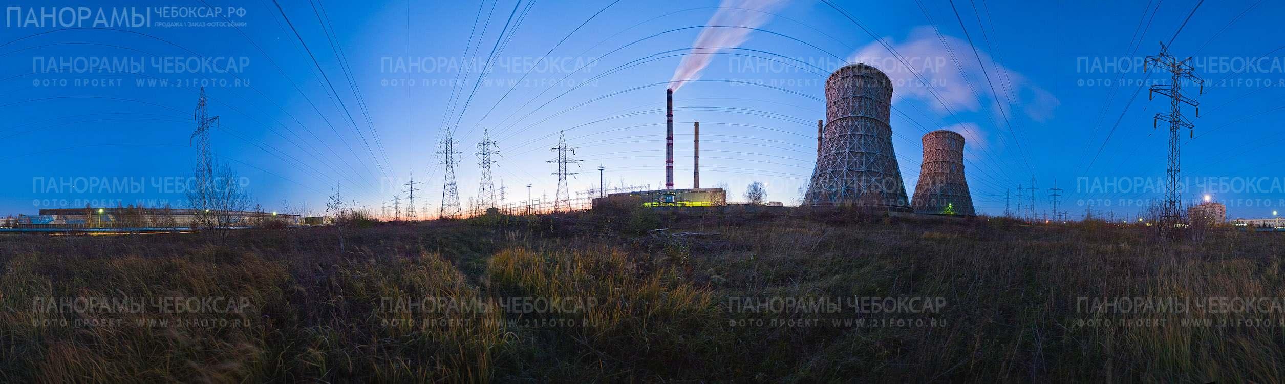 фото Чебоксарской ТЭЦ-2 на закате