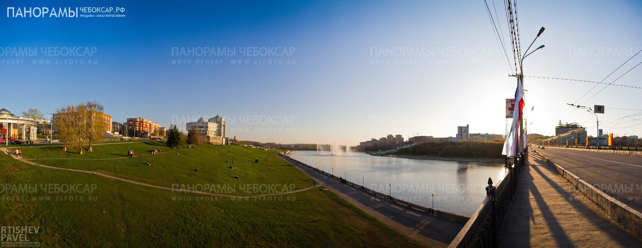 Фотография залива с Московского Моста в городе Чебоксары
