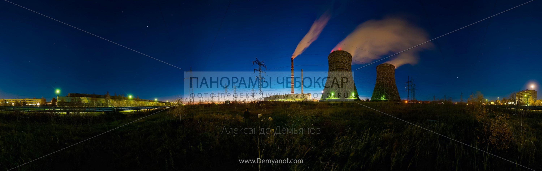 фото Чебоксарской ТЭЦ-2 ночью