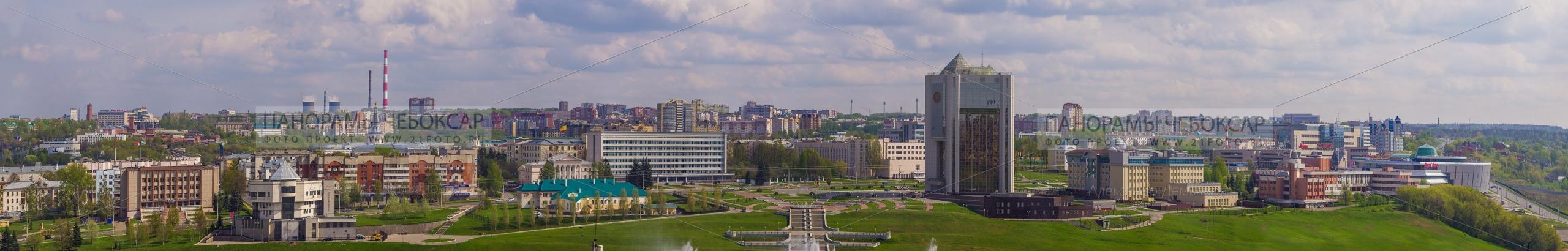 144 мегапиксел — Фото центра города Чебоксары летом  (гигапиксельные фотографии города Чебоксары)