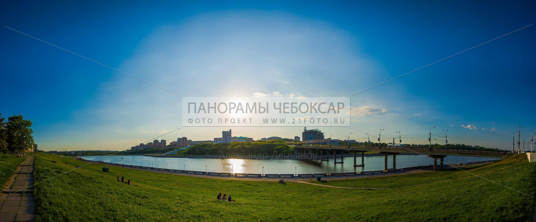 Чебоксарский залив и театр Оперы и балета