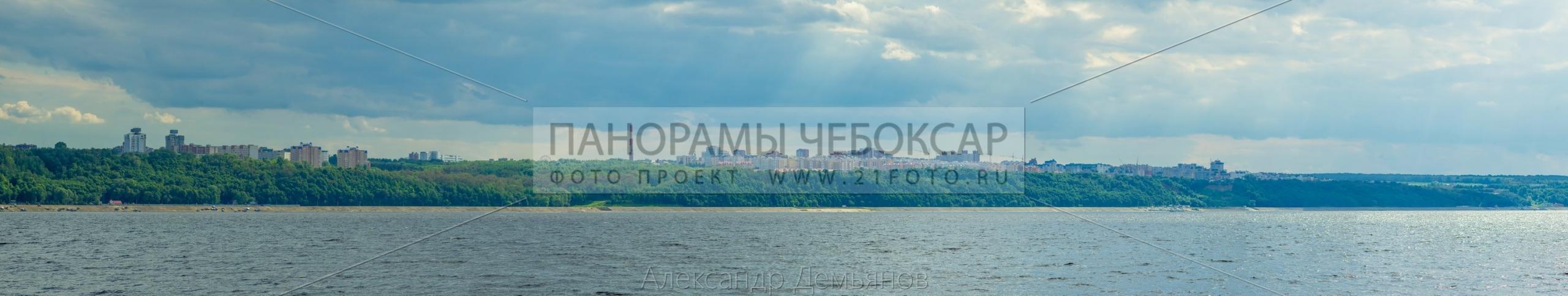Северо-западный район Чебоксары летом
