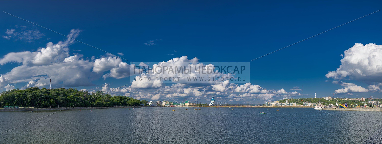 Дорога к храму, Чебоксарский залив летом