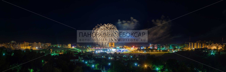 Салют на День Города в Чебоксарах
