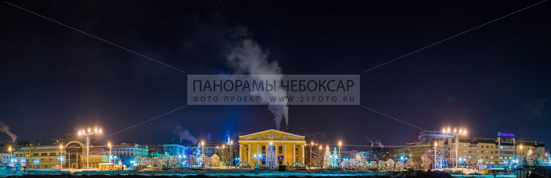 Чувашский драматический театр зимой