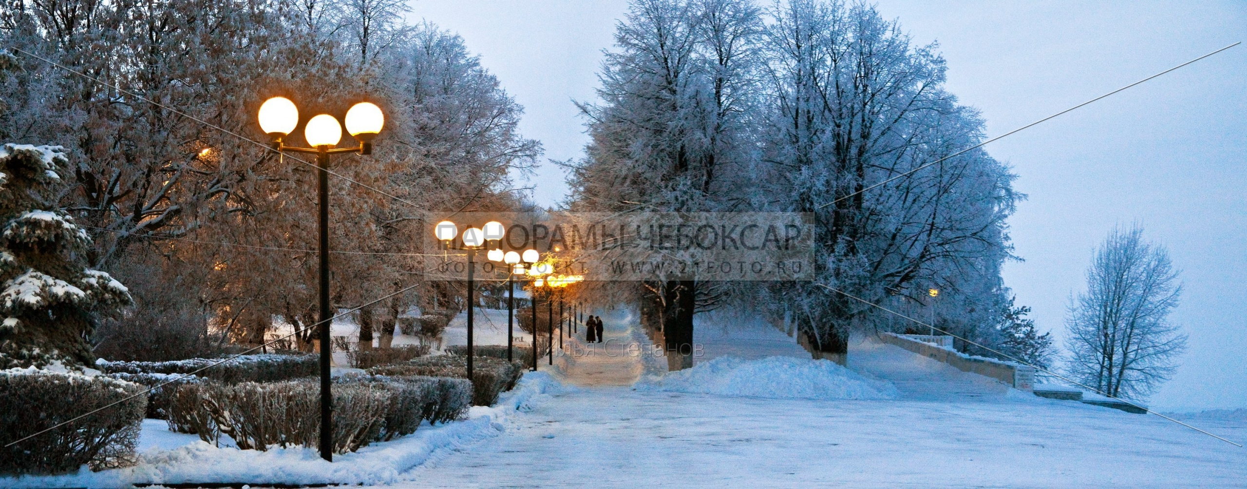 Набережная волги зимой — Илья Степанов — Чебоксары