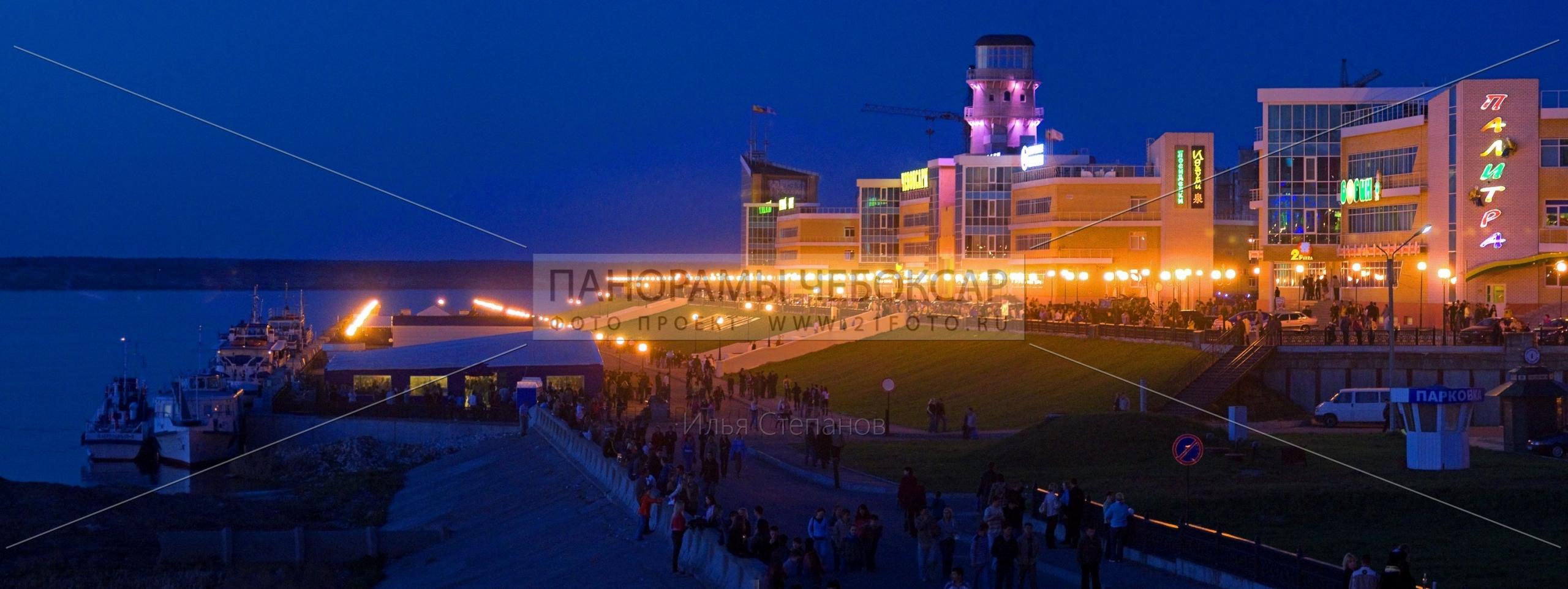Речной порт ночью — Илья Степанов — Чебоксары