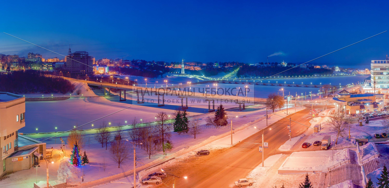 Чебоксарский залив и Московский мост