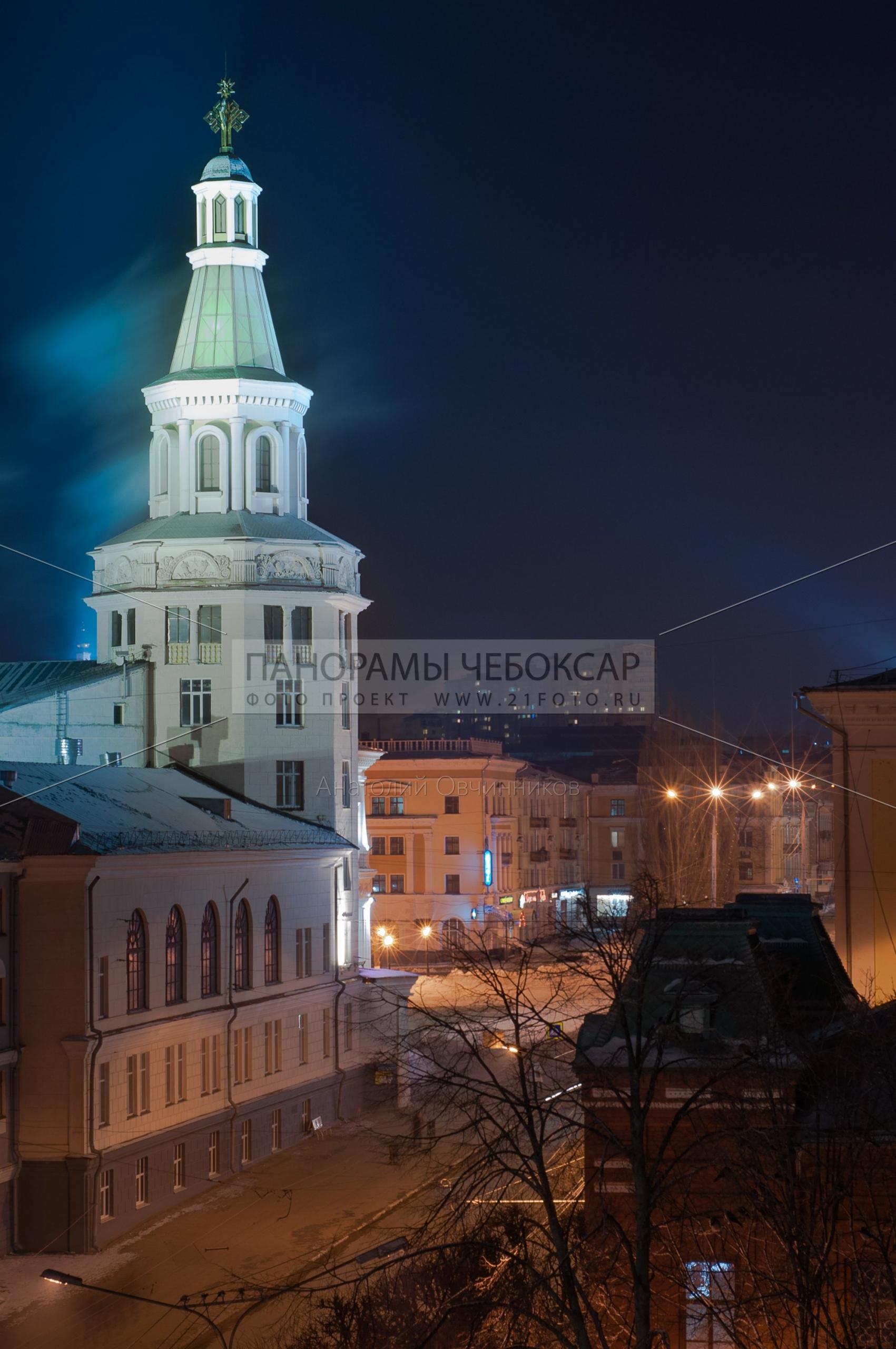 Проспект Ленина — башня Чувашской государственной сельскохозяйственной академии