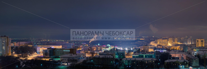 Центр города чебоксары зимой в облачную погоду