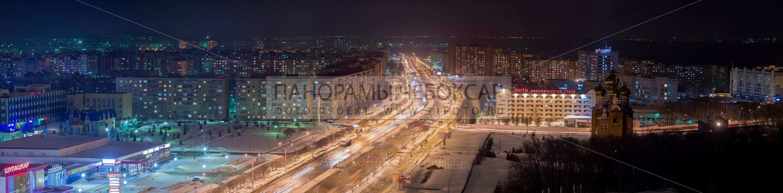 Новоюжный район ночью