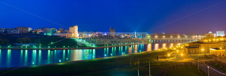 Залив и Московский мост Чебоксары