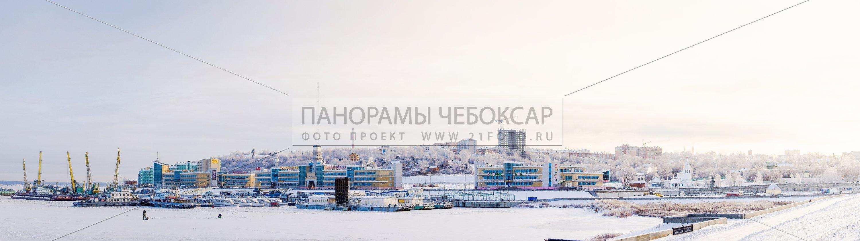 71 Мегапиксел Замерзший Речной порт