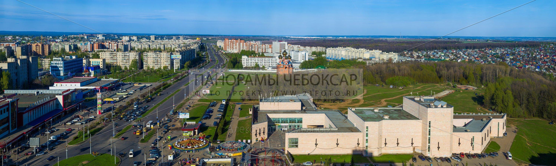 Ново-южный район весной (Гигапиксельные фотографии Чебоксар)