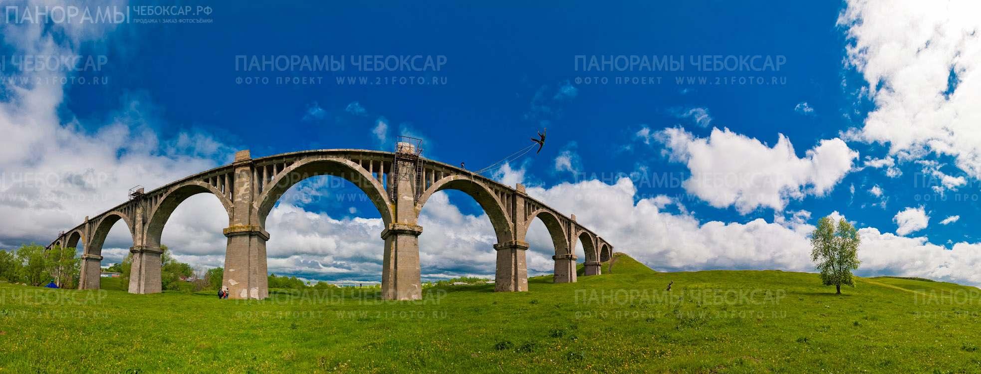 Фото Железнодорожного моста в Канашском районе Чувашской республики