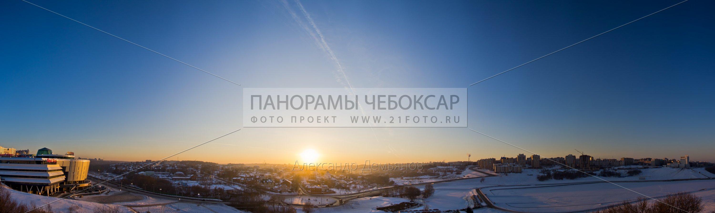 Фото Чебоксар, Закат на Богданке