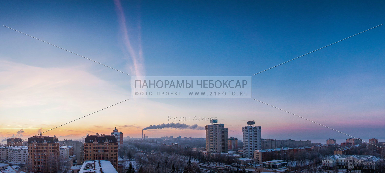 Московский проспект на закате