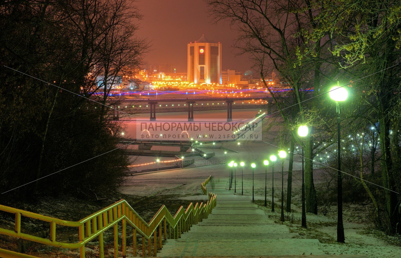 Дом правительства зимой — Илья Степанов — Чебоксары