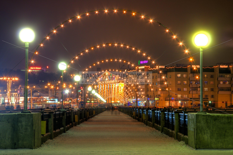 Пешеходный мост через залив — Илья Степанов — Чебоксары