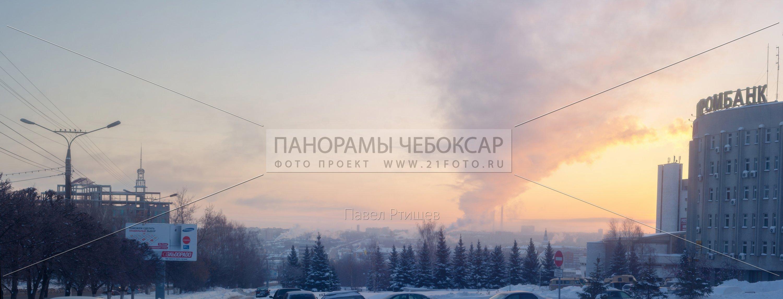 Морозная зима в Чебоксарах