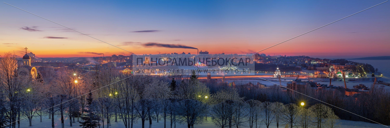 Парк победы зимой