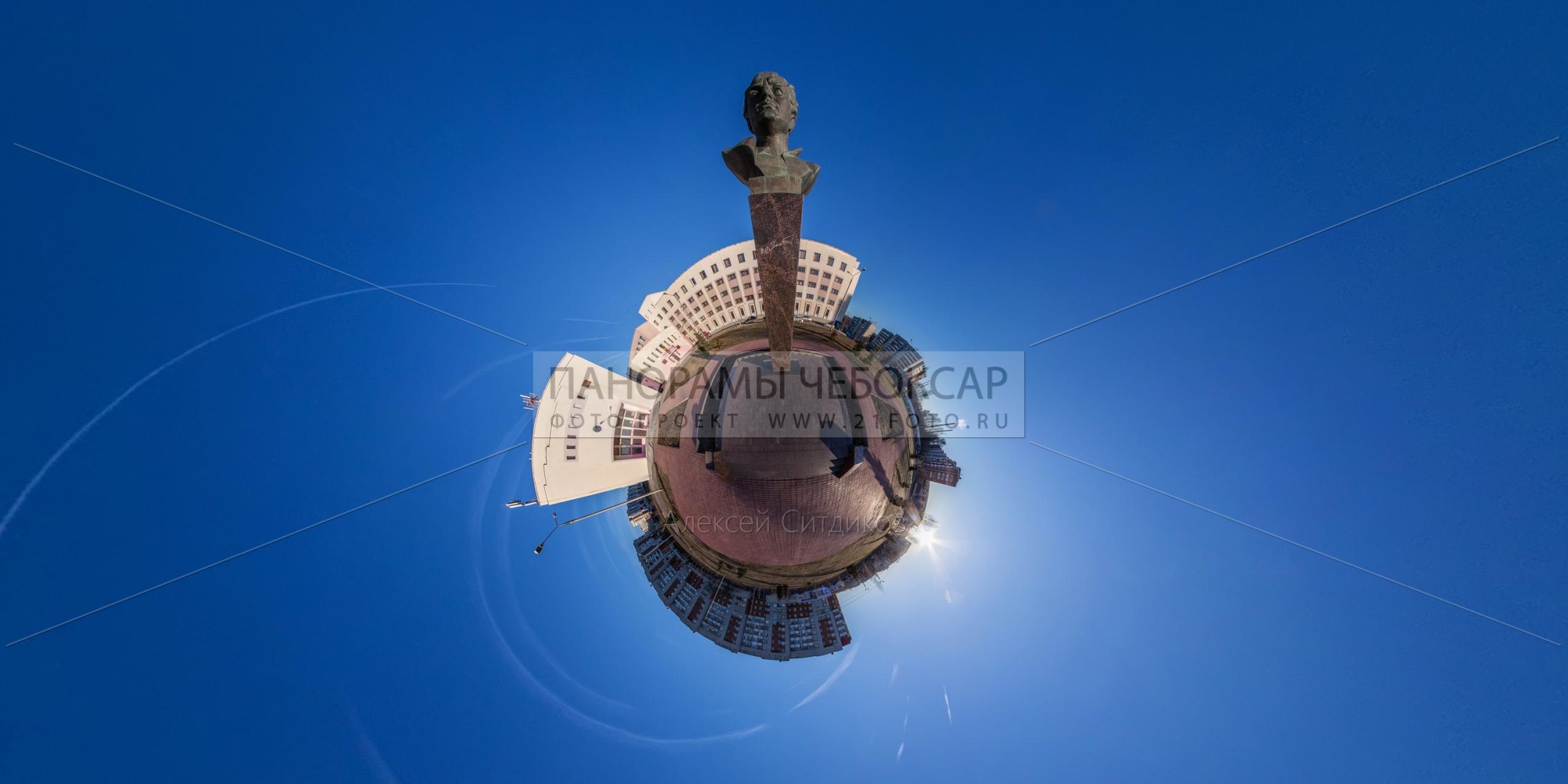 Памятник Хузангаю — маленькая планета