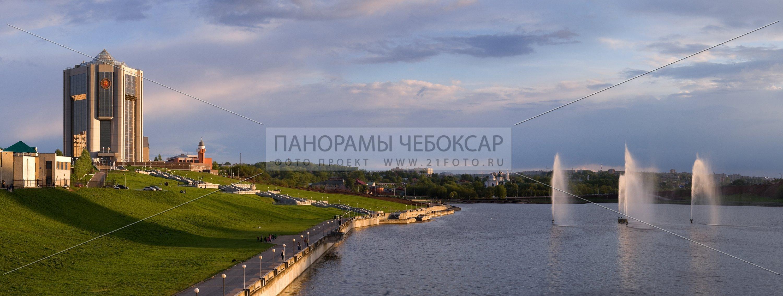 Дом Правительства летним днём — Илья Степанов — Чебоксары