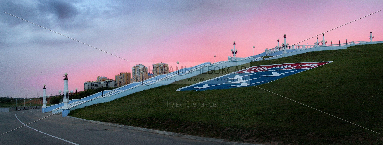 Театральная набережная на закате — Илья Степанов — Чебоксары