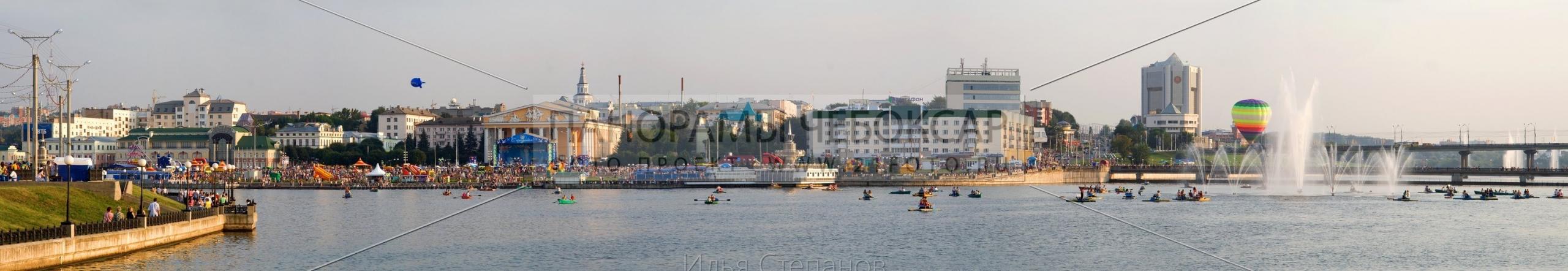Воздушний шар на панорамном заливе Илья Степанов — Чебоксары