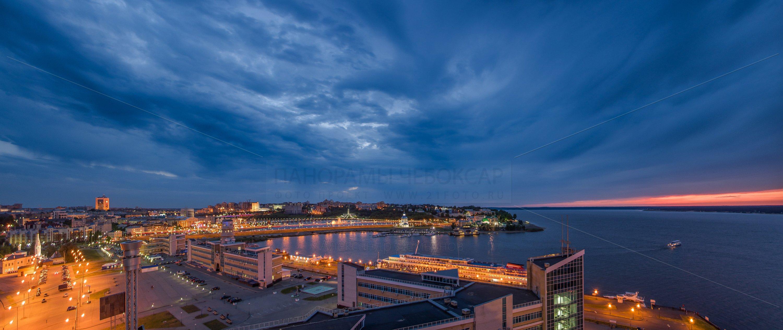 Пасмурный вечер над Чебоксарской бухтой