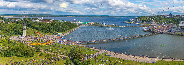 Стрижи над Чебоксарским заливом летом 2015