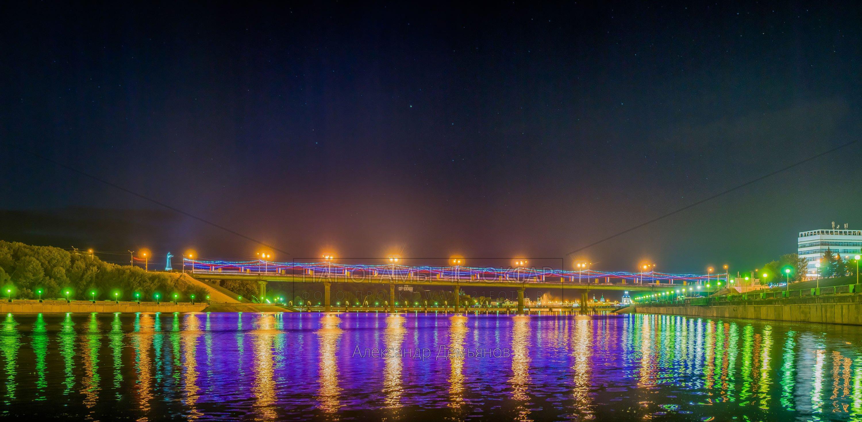 Московский мост. День города Чебоксары 2015