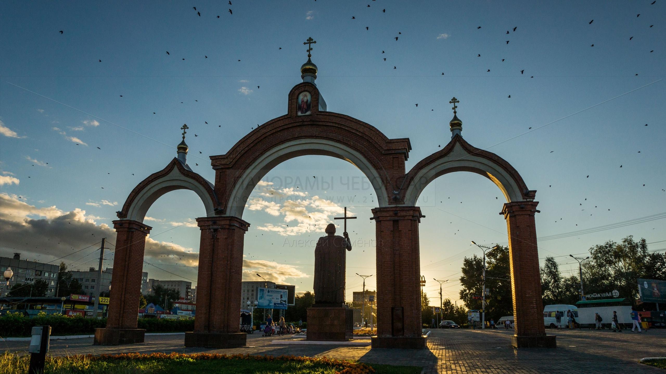 Памятник Князю Владимиру Новочебоксарск 2015