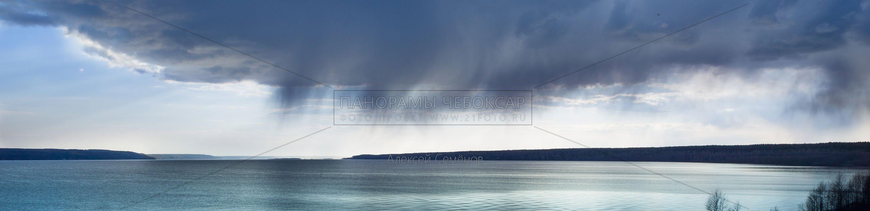 Дождь над Волгой. Чебоксары 2016