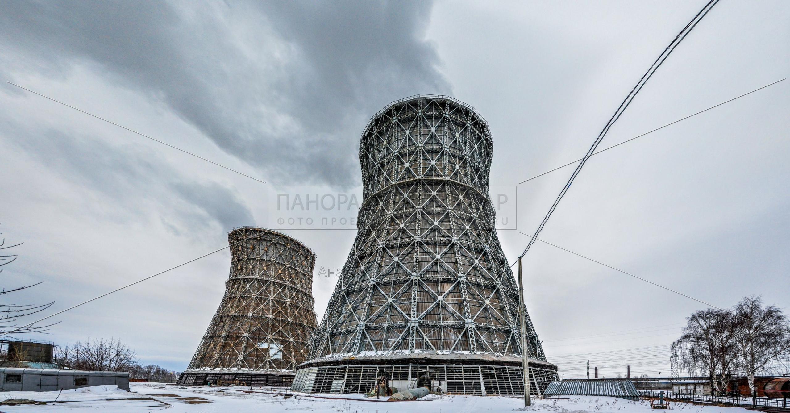 Градирни Чебоксарской ТЭЦ-2. Зима 2013