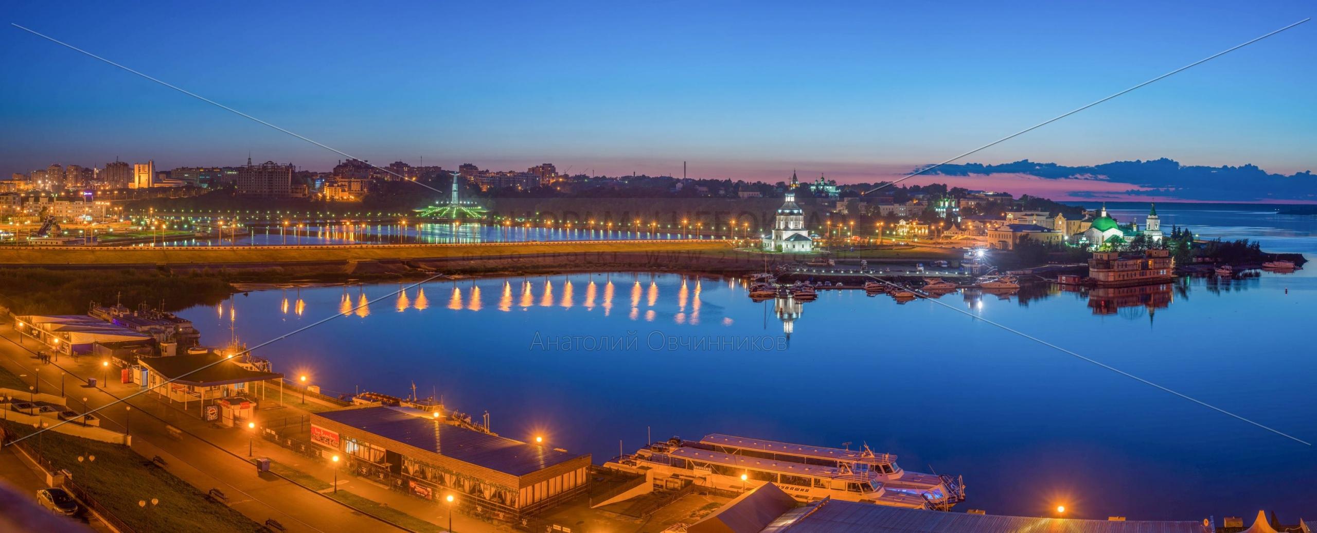 Вечерняя Чебоксарская бухта летом 2014