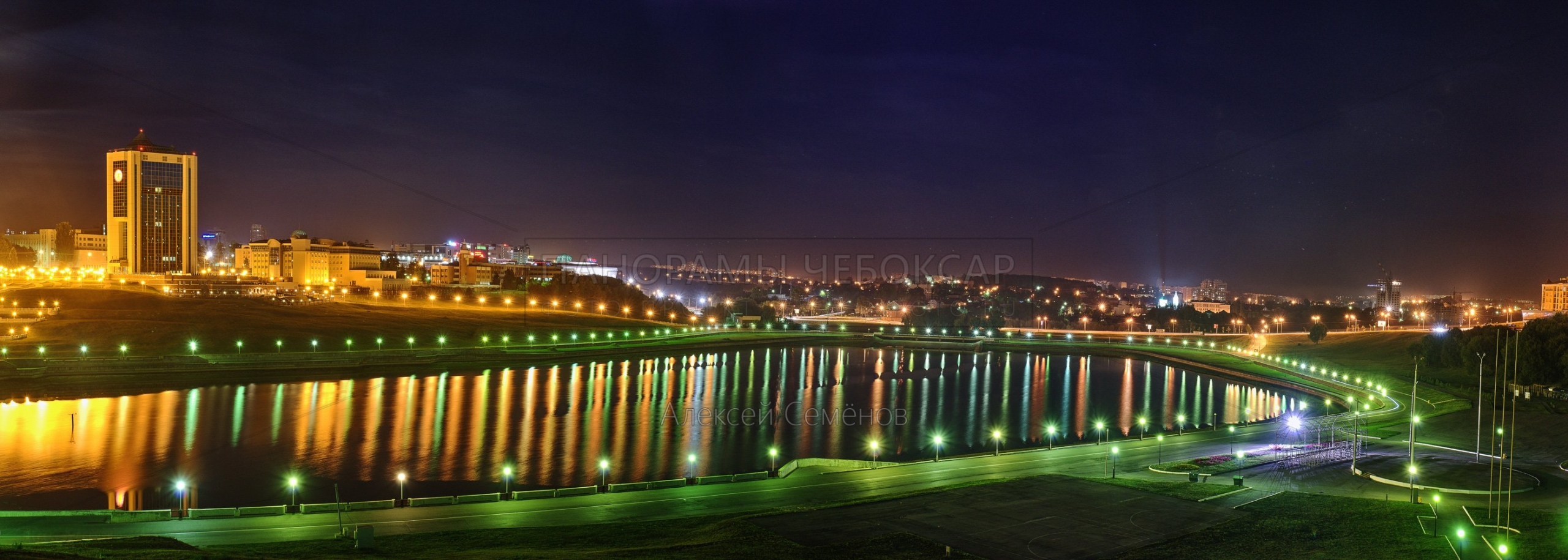 Чаша Чебоксарского залива летом 2016