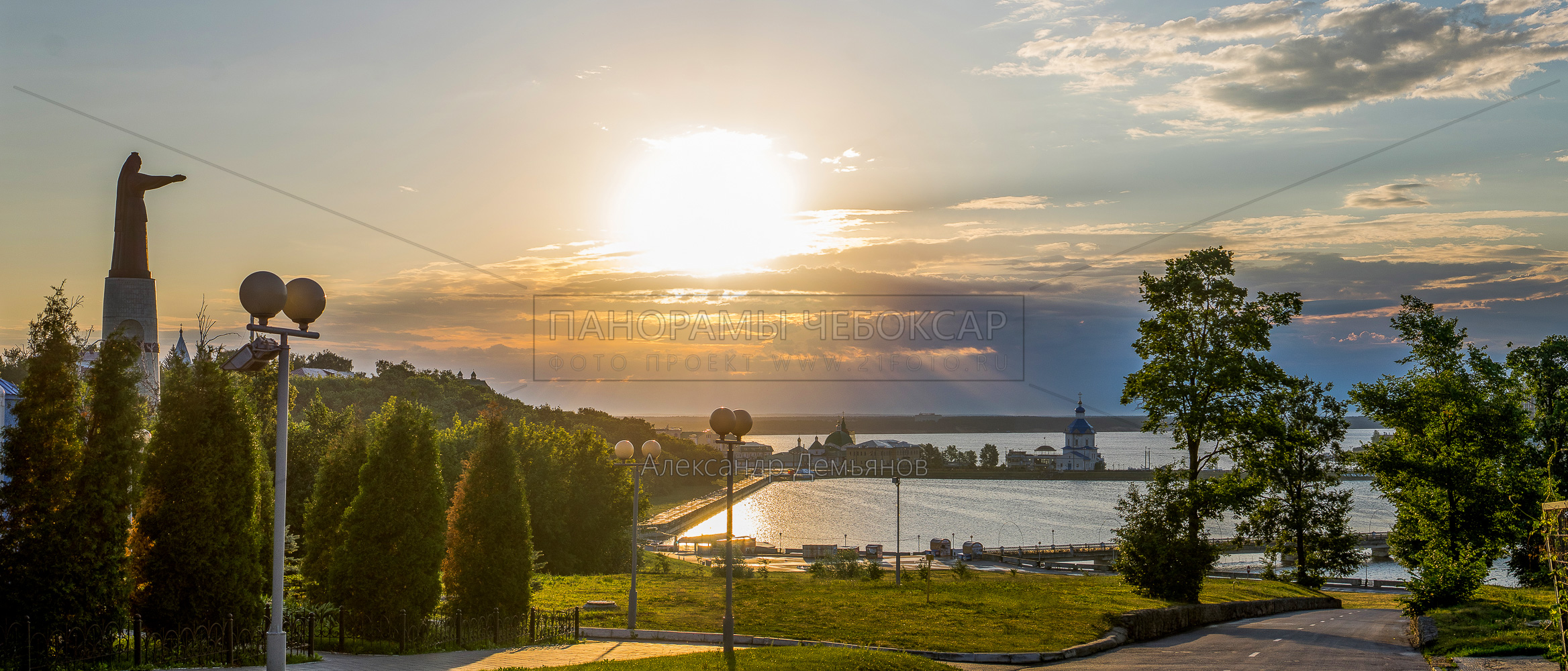 Рассвет над Чебоксарским заливом 2015