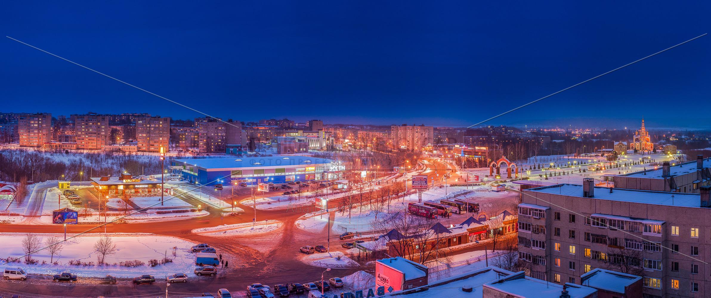 Панорама Новочебоксарск зимой 2013