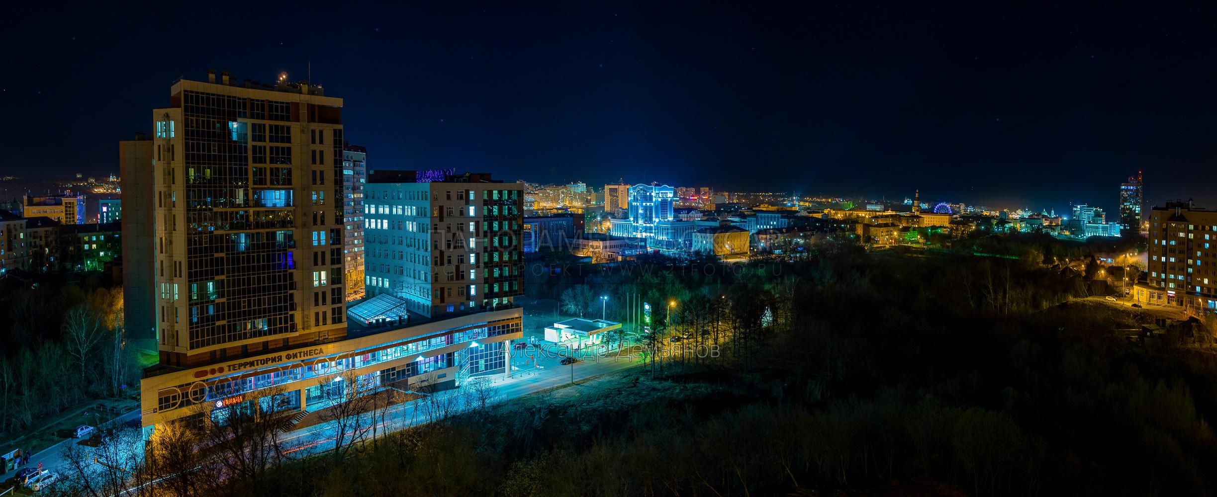Центр Города Чебоксары ранней весной 2019