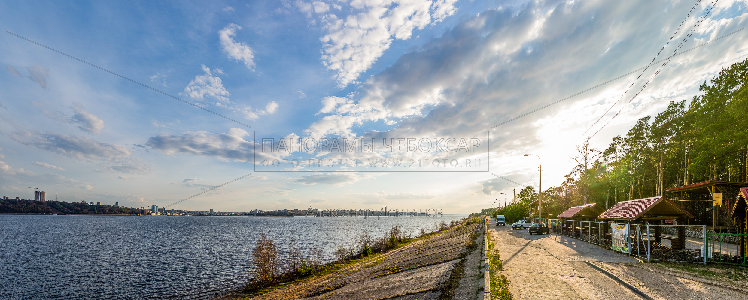 Закат на левом берегу Волги весной 2019
