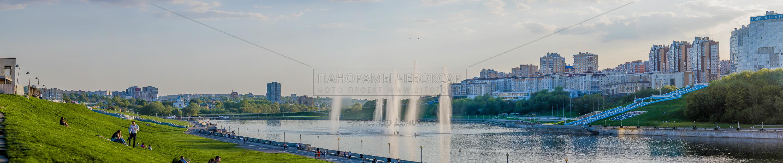 Фонтаны на чебоксарском заливе Весной 2019 III