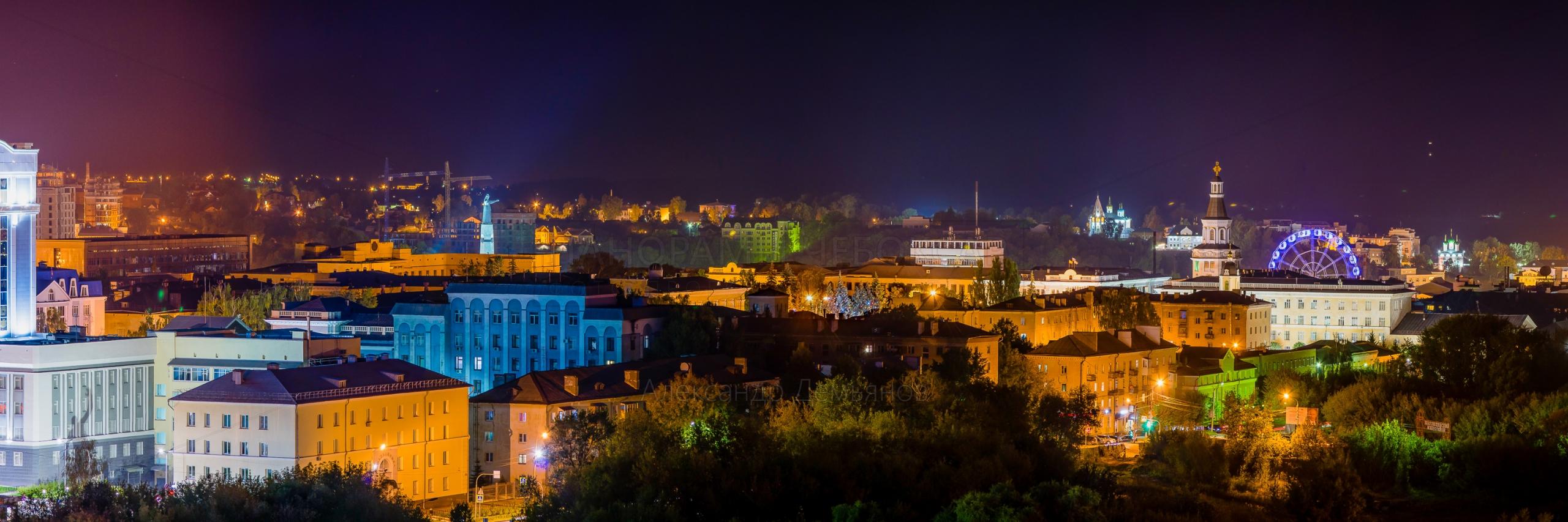 Ночное фото Чебоксар летом 2019
