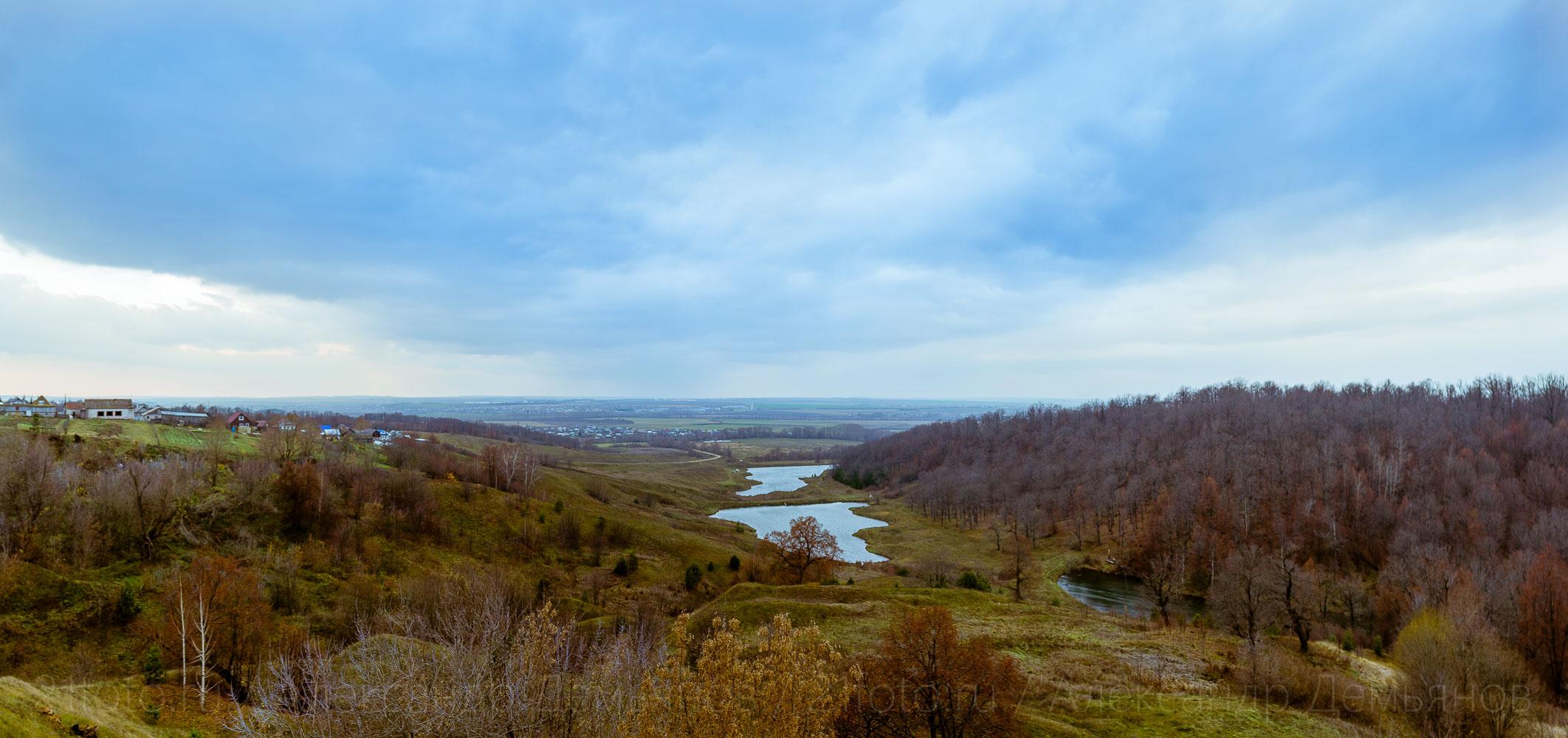 Чувашские холмы, в окрестностях реки Цивиль осенью 2019